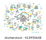 online note storage vector... | Shutterstock .eps vector #413950648