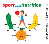 Sport And Nutrition Concept...