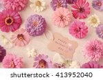 happy mother's day tag with... | Shutterstock . vector #413952040