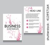 vector brochure flyer design... | Shutterstock .eps vector #413957164