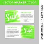 set of sale banners design.... | Shutterstock .eps vector #413957839