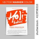 happy holi celebration. design... | Shutterstock .eps vector #413958310
