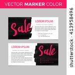 set of sale banners design....   Shutterstock .eps vector #413958496