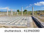 ruins of ancient pella ... | Shutterstock . vector #413960080