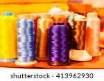 Colorful Sewing Threads  Note...