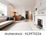 luxury living room interior... | Shutterstock . vector #413970226