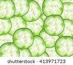 Fresh Slice Cucumber On...