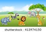 cartoon happy animal africa | Shutterstock .eps vector #413974150