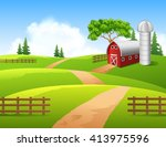 Illustration Of Farm Background