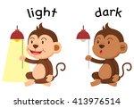 Opposite Words Light And Dark...