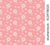 pink seamless flower pattern | Shutterstock .eps vector #413978020