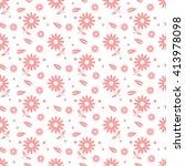 pink seamless flower pattern | Shutterstock .eps vector #413978098
