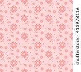 pink seamless flower pattern | Shutterstock .eps vector #413978116