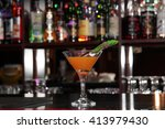 a cocktail at the bar | Shutterstock . vector #413979430