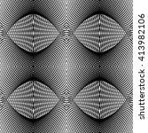 design seamless monochrome grid ... | Shutterstock .eps vector #413982106