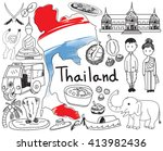 travel to thailand  siam ...   Shutterstock .eps vector #413982436