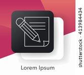 document line icon | Shutterstock .eps vector #413984434