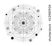 mystical geometry symbol.... | Shutterstock .eps vector #413985934
