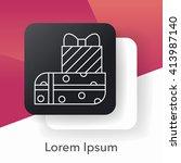 birthday present line icon | Shutterstock .eps vector #413987140