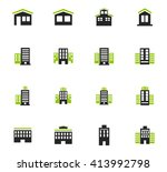 buildings  icon set for web... | Shutterstock .eps vector #413992798