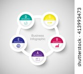 abstract 3d digital business...   Shutterstock .eps vector #413993473
