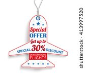 passenger flight price sticker... | Shutterstock .eps vector #413997520