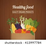 healthy freshly harvested... | Shutterstock .eps vector #413997784