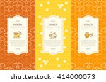 vector packaging template with... | Shutterstock .eps vector #414000073