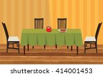 table with chairs | Shutterstock .eps vector #414001453