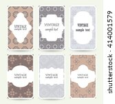 set of six wedding cards with... | Shutterstock .eps vector #414001579