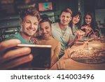 cheerful multiracial friends... | Shutterstock . vector #414003496