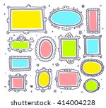 vector template set of lace... | Shutterstock .eps vector #414004228