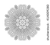 mandala doodle drawing. floral... | Shutterstock . vector #414009280