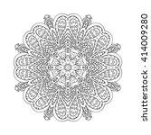 mandala doodle drawing. floral... | Shutterstock . vector #414009280