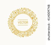 Vector Vintage Frame In Trendy...