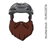 bearded hockey player | Shutterstock .eps vector #414012076