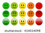 mood level smile icons on white ...   Shutterstock .eps vector #414014098