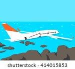 a passenger plane crashed on... | Shutterstock .eps vector #414015853