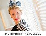 closeup picture of beautiful... | Shutterstock . vector #414016126