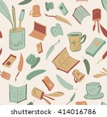 writer reader pattern   Shutterstock . vector #414016786
