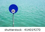 no fishing sign in the lake | Shutterstock . vector #414019270