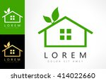 house eco. real estate logo... | Shutterstock .eps vector #414022660