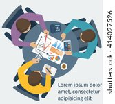 project management concept.... | Shutterstock .eps vector #414027526