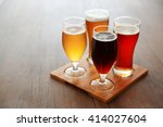 glasses with different sorts of ... | Shutterstock . vector #414027604