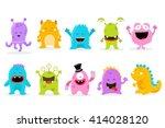 cute monster set | Shutterstock .eps vector #414028120