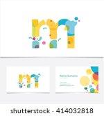 creative letter m design vector ... | Shutterstock .eps vector #414032818