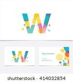 creative letter w design vector ...   Shutterstock .eps vector #414032854