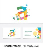 creative letter a design vector ... | Shutterstock .eps vector #414032863