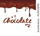 chocolate word written with... | Shutterstock .eps vector #414033898