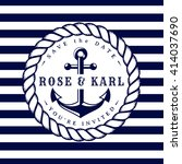 nautical wedding invitation... | Shutterstock .eps vector #414037690